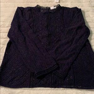 Gap Navy Lace Top